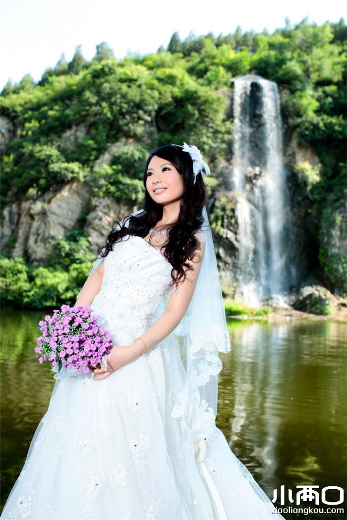 欧式广场婚纱照